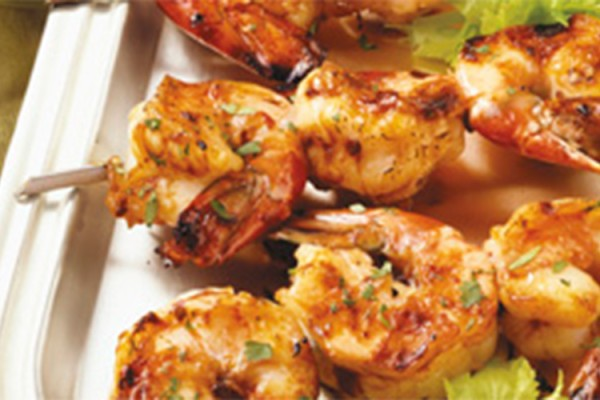 Sweet and Spicy Shrimp Kabob