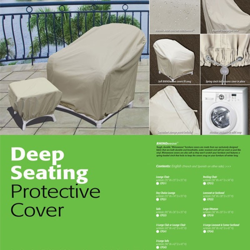 X Large Lounge Chair Water Resistant Cover Individual