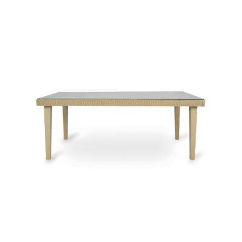 "RECTANGULAR DINING TABLE width 72.5"" height 29"" depth 42"""