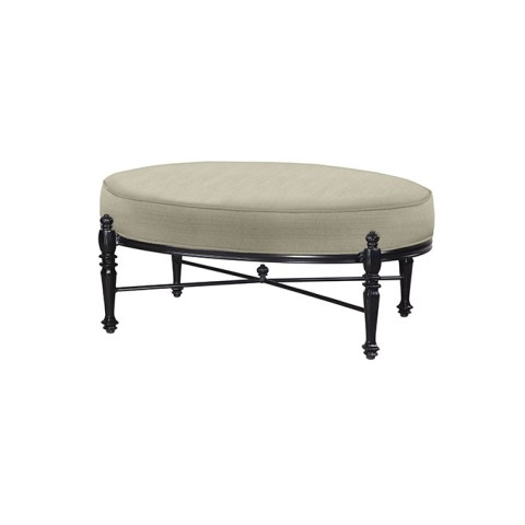 "GRAND TERRACE CUSHION OVAL OTTOMAN:W: 40"" D: 28"" H: 18.5"" Weight: 19lbs"
