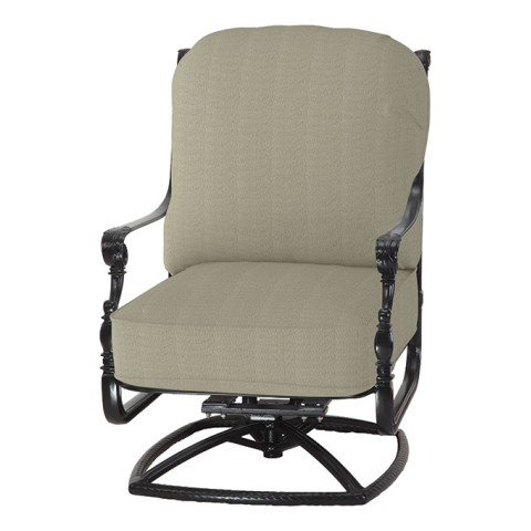 "GRAND TERRACE CUSHION HIGH BACK SWIVEL ROCKING LOUNGE CHAIRW: 27.5"" D: 34"" H: 46"" Weight:48.5lbs"