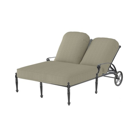 "GRAND TERRACE CUSHION DOUBLE CHAISE LOUNGEW: 53.5"" D: 79"" H: 44"" Weight:77lbs"