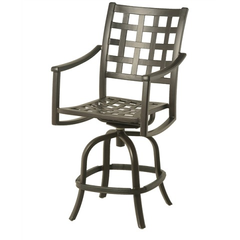 Stratford Outdoor Swivel Counter Stool 24 x 19.3 x 29.2 seat 34.3 arm 45.5 back Weight: 30lbs