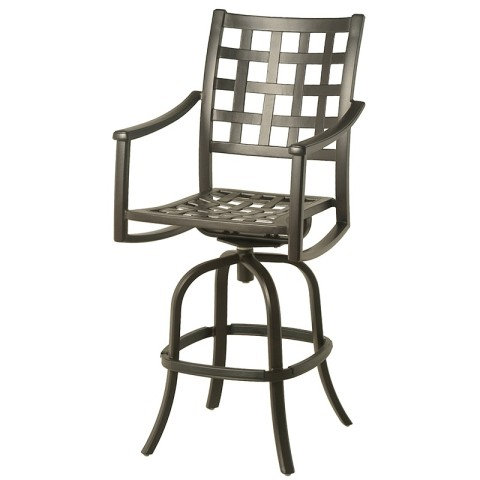 Stratford Outdoor Swivel Bar Stool 24 x 19.3 x 29.2 seat 34.3 arm 49.4 back Weight: 31.5lbs
