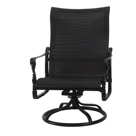 "GRAND TERRACE WOVEN HIGH BACK SWIVEL ROCKING LOUNGE CHAIRW: 30"" D: 28.5"" H: 43"""