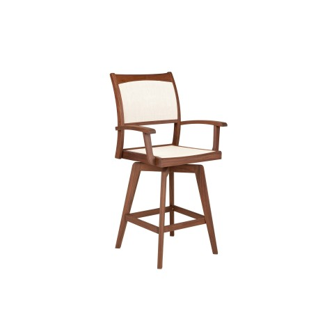 Topaz Swivel Hi Dining Chair Natural:<p>