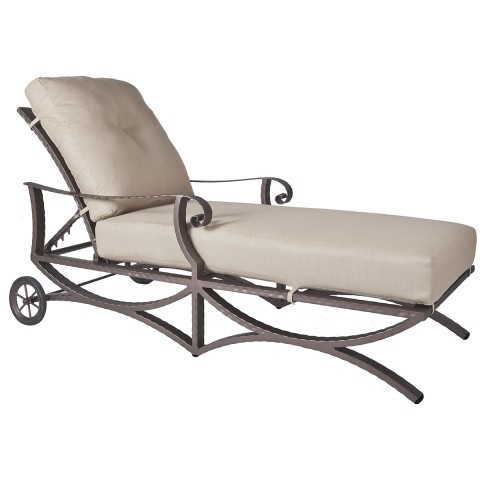 Adjustable ChaiseWidth/Diameter :	33 Depth/Length:	80 Height:	39.5 Seat Height:	18.5 Arm Height:	23.5 Weight:	105