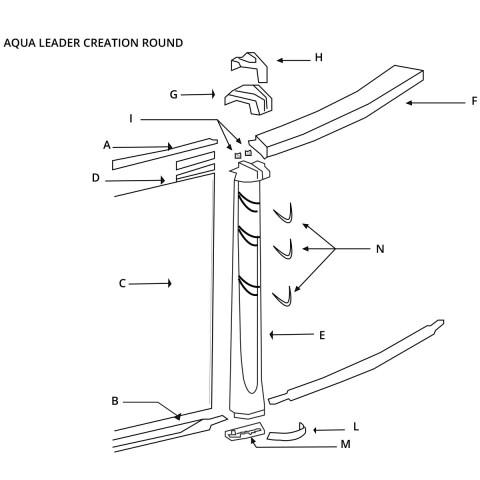 Aqua Leader Creation Round - Pool Parts - The Great Escape