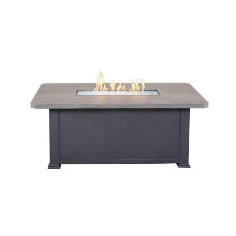 "Erie Etch Fire Table:  58""  W X 36"" D X 25"" H"