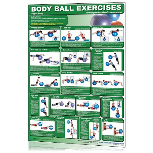 Body Ball Exercises - Upper Body/Lower Body  (Poster)