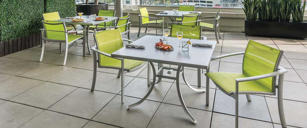 Commercial Sales The Great Escape - Commercial patio table and chairs