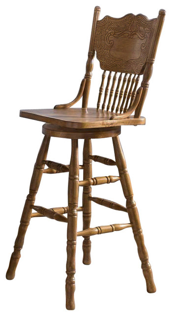 24 Quot Press Back Counter Stool Counter Height The Great