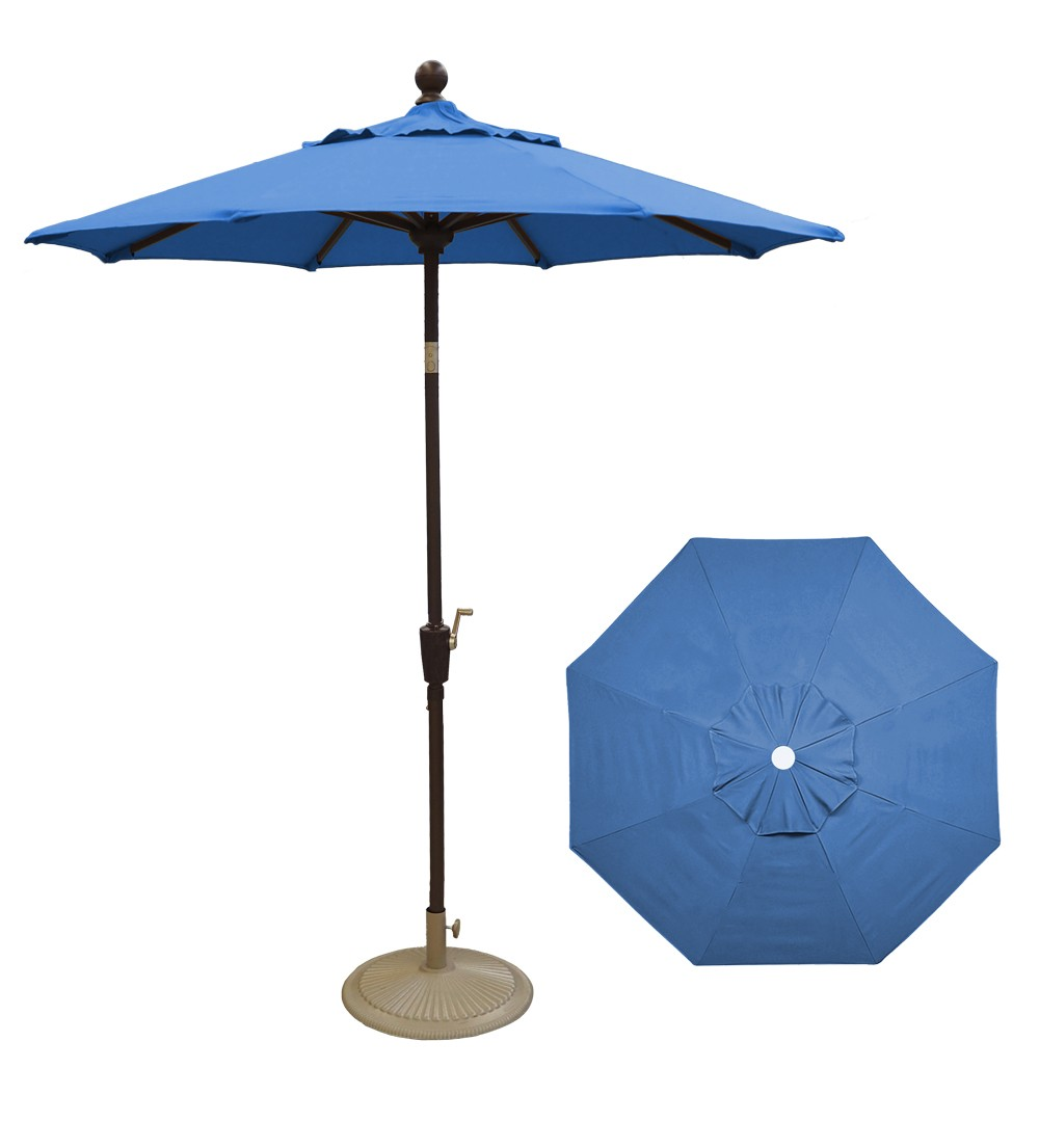 6 Sky Blue Push Button Umbrella Umbrellas The Great