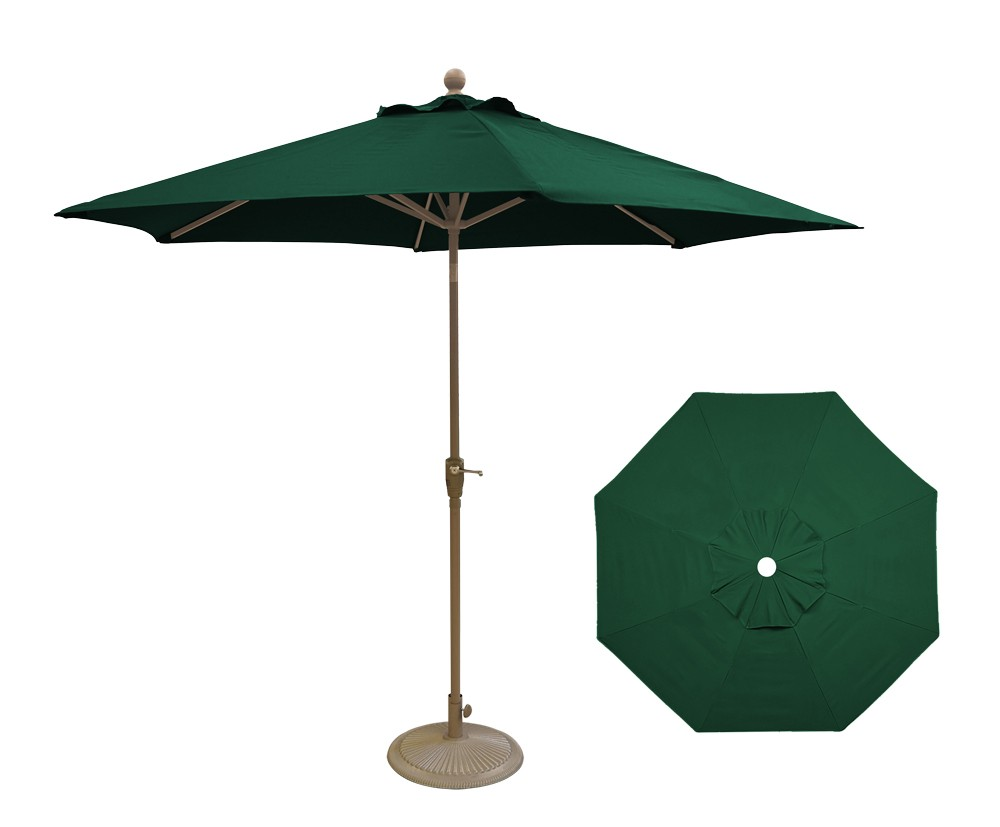 9' Market Push Button Tilting Umbrellas