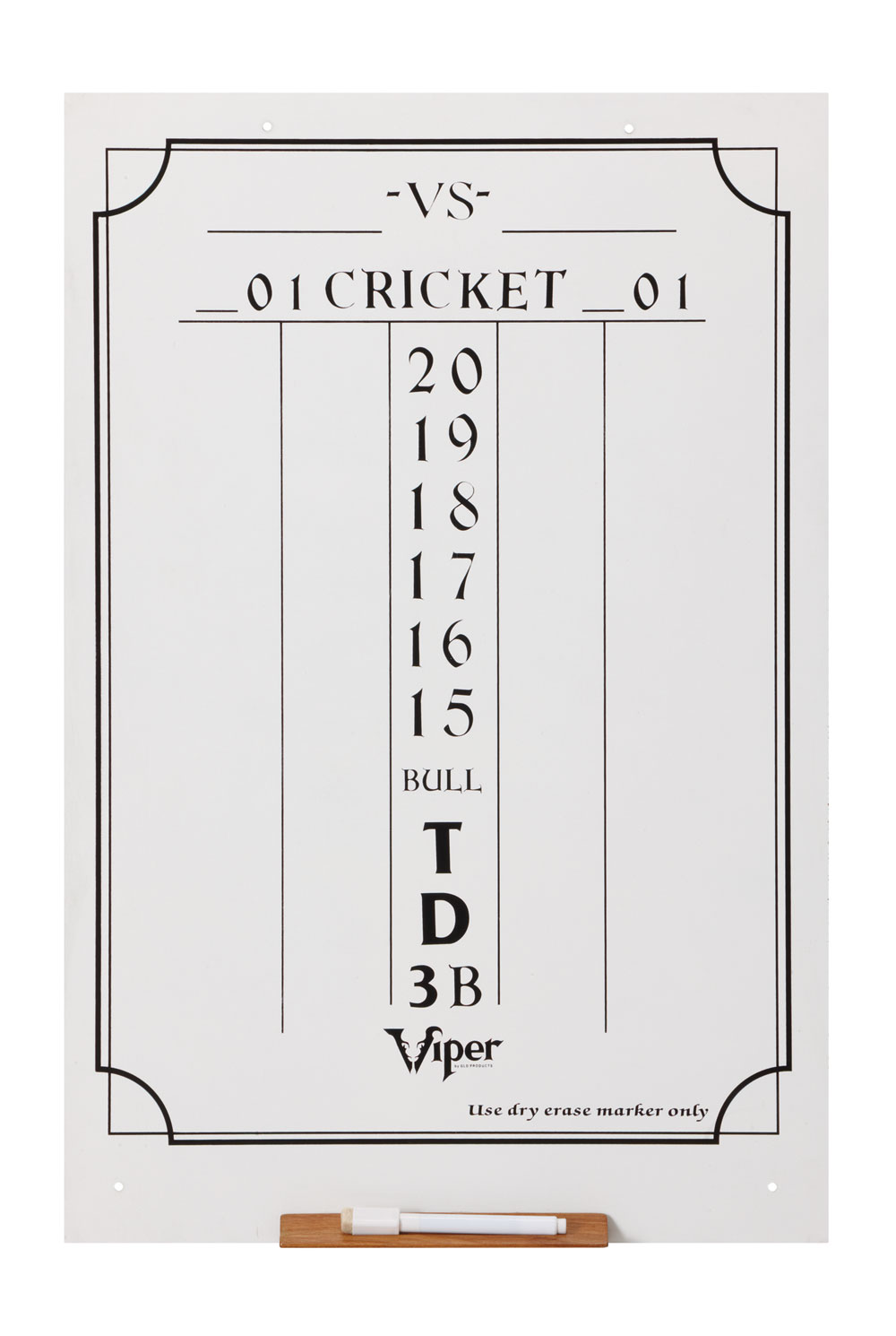 Large Cricket Dry Erase Scoreboard Darts And Dart Boards