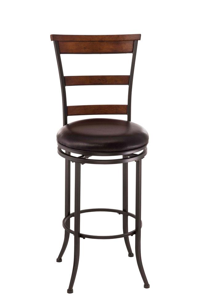 Cameron Swivel Ladder Back Bar Stool Bar Height The