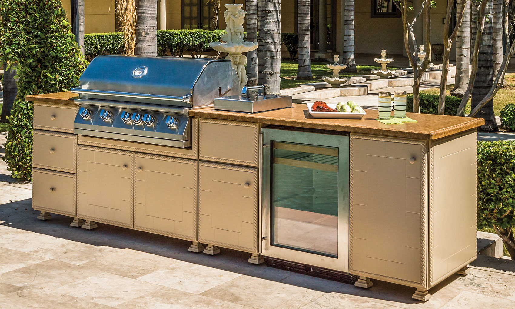 kitchen island grill grill amp side burner island outdoor kitchens the great 13468