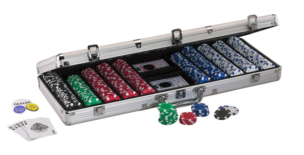 Replacement Aluminum 500Ct Poker Chip Case