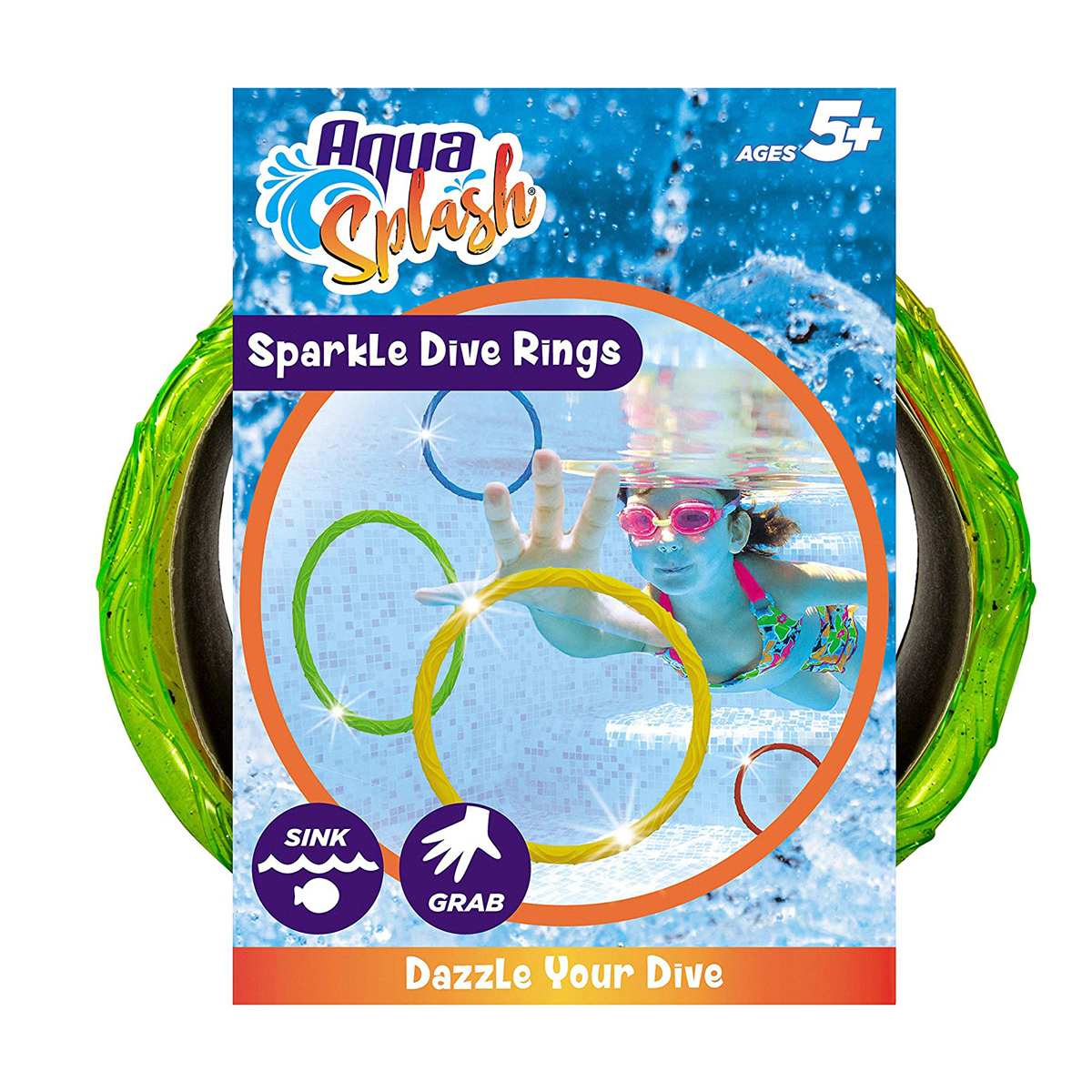 Sparkly Dive Rings